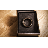 Kinetic PK Ring (Silver) Curved size 8 by Jim Trainer - Trick