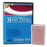 Amazing Easy To Learn Magic Tricks- Stripper Deck & DVD Combo