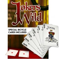 Jokers Wild with DVD and Special Bicycle Cards by Magic Makers