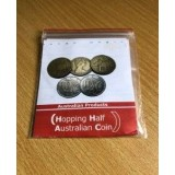 Hopping Half with Australian $1 Dollar Coin and Australian 10 Cent by Tango