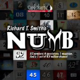 Richard T. Smith's NUMB (Poker Size Red) by Card-Shark