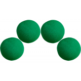 1.5 inch High Density Ultra Soft Sponge Ball (Green) Pack of 4 from Magic by Gosh