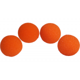 2 inch Regular Sponge Ball (Orange) Pack of 4 from Magic by Gosh