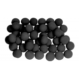 1 inch Super Soft Sponge Ball (Black) Bag of 50 from Magic by Gosh