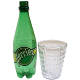 Floating Perrier (bottle and Glass) by Wood Crafters - Trick