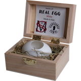 Real Egg (White) by Gianfranco Ermini & Stratomagic - Trick