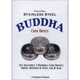 Stainless Steel Buddha Coin Box Set by Chazpro Magic - Trick