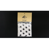 Silk 24 inch (White with Black Polka Dots) by Pyramid Gold Magic