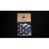 Silk 18 inch (Black with White Polka Dots) by Pyramid Gold Magic