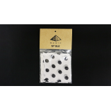 Silk 18 inch (White with Black Polka Dots) by Pyramid Gold Magic