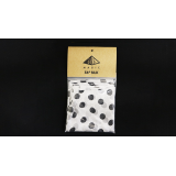 Silk 36 inch (White with Black Polka Dots) by Pyramid Gold Magic