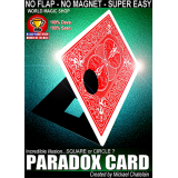 Paradox Card (Red) by Mickael Chatelain - Trick
