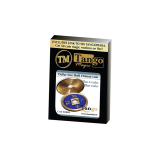 Dollar Size Shell Chinese Coin (Blue) by Tango Magic (CH025)