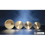 Nested Coin Box Brass (4) by Mr. Magic - Trick