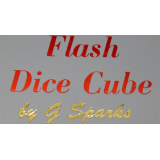 FLASH DICE CUBE (Red) by G Sparks