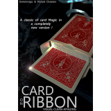 Card on Ribbon (BLUE) by Mickael Chatelain - Trick