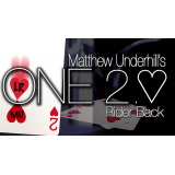 ONE Two of Hearts (Online Instructions and Red Gimmick) Edition by Matthew Underhill - DVD