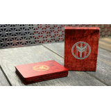 FIBER BOARDS Cardistry Trainers (Jasper Red) by Magic Encarta - Trick