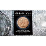 Gripper Coin (Single/English Penny) by Rocco Silano - Trick