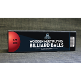"""Wooden Billiard Balls (1.75"""" Red) by Classic Collections - Trick"""