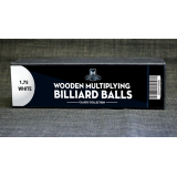 """Wooden Billiard Balls (1.75"""" White) by Classic Collections - Trick"""