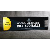 """Wooden Billiard Balls (1.75"""" Yellow) by Classic Collections - Trick"""