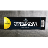 """Wooden Billiard Balls (2"""" Yellow) by Classic Collections - Trick"""