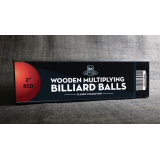 """Wooden Billiard Balls (2"""" Red) by Classic Collections - Trick"""
