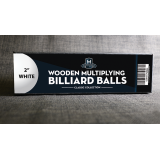 """Wooden Billiard Balls (2"""" White) by Classic Collections - Trick"""