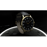 Infinity Watch V3 - Gold Case Black Dial / PEN Version (Gimmick and Online Instructions) by Bluether Magic - Trick