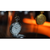 Infinity Pocket Watch V3 - Silver Case White Dial / STD Version (Gimmick and Online Instructions) by Bluether Magic - Trick