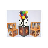 Transformation of Dice to Crystal Cube then to 4 Cages (Wooden) by Tora Magic - Trick