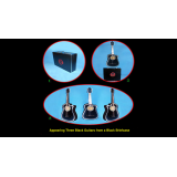 Appearing Guitars from Briefcase (3/Black) by Black Magic - Trick