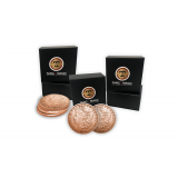 Copper Morgan Expanded Shell plus 4 four Regular Coins (Gimmicks and Online Instructions) by Tango Magic - Trick