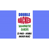 Magnetic Cards (2 pack/double back blue) by Chazpro Magic. - Trick