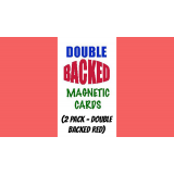 Magnetic Cards (2 pack/double back red) by Chazpro Magic. - Trick