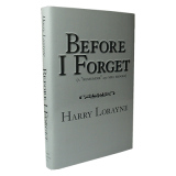 Before I Forget by Harry Lorayne - Book
