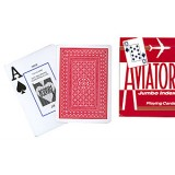 Cards Aviator Jumbo Index Poker Size (Red)