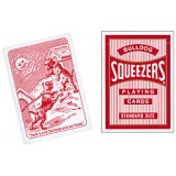 Cards Squeezers Bulldog Poker size (Red)