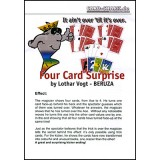 Four Card Surprise by Lothar Vogt - Trick