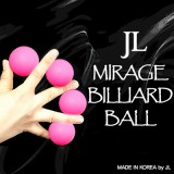 Mirage Billiard Balls by JL (PINK, 3 Balls and Shell) - Trick