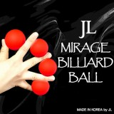 Mirage Billiard Balls by JL (RED, 3 Balls and Shell) - Trick