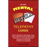 Refill (BLANK) Mental Telepathy Cards by Chazpro Magic - Trick