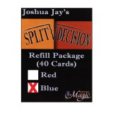 REFILL Blue for Split Decision by Joshua Jay - Trick