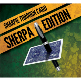 Sharpie Through Card SHERPA Version (DVD and Gimmick) Blue by Alakazam Magic - DVD