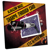 Sharpie Through Card (Gimmick and Online Instructions) Blue by Alakazam Magic - DVD