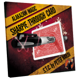 Sharpie Through Card (Gimmick and Online Instructions) Red by Alakazam Magic - DVD