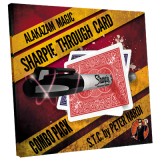 Sharpie Through Card Combo Pack (Gimmick and Online Instructions) Red and Blue by Alakazam Magic - DVD