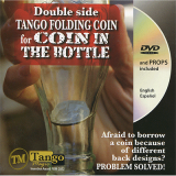 Double Side Folding 50 Cent Euro (Internal System DVD w/Gimmick) (E0084) by Tango - Trick