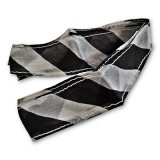 Thumb Tip Streamer (Zebra - Black & White) by Uday - Trick